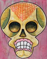 Spider Web Skull by Phenzyart