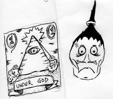 Under God Sketch by Phenzyart
