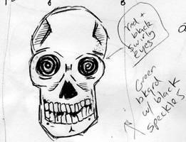 Skull w/ Swirly Eyes by Phenzyart