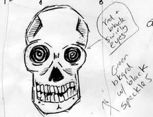 Skull w/ Swirly Eyes