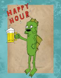 Happy Hour! by Phenzyart