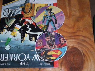 Comic Book Beer Coasters by Phenzyart