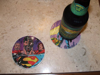 Comic Book Beer Coasters