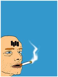 Smoking Man by Phenzyart