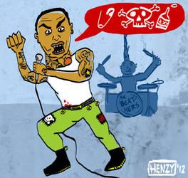 Chris Brown Punk Rocker by Phenzyart