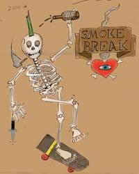 Smoke Break by Phenzyart