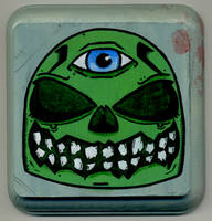 Green Skull by Phenzyart
