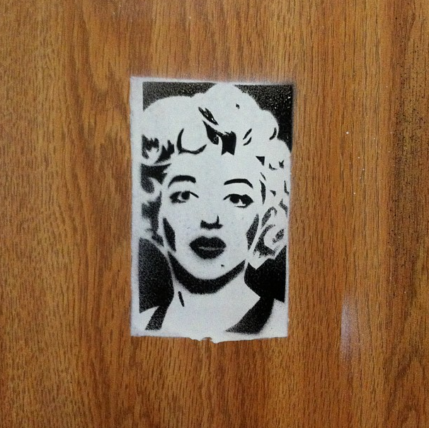Marilyn Monroe Stencil by Phenzyart