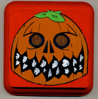 Pumpkinhead Skull by Phenzyart