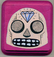 Shiny Happy Skull by Phenzyart