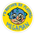 Megaman Sticker by Phenzyart