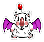 Moogle Sticker! by Phenzyart