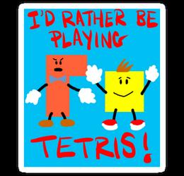 Tetris Sticker! by Phenzyart