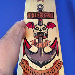 Henzy Family Skateboard Deck by Phenzyart