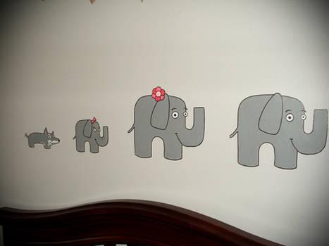 Baby's Room Elephant Mural