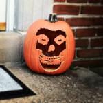 Misfits Fiend Skull Jack-o-lantern by Phenzyart