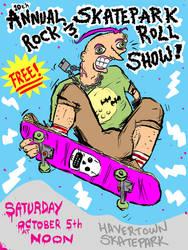 10th Annual Skatepark Show Flyer by Phenzyart