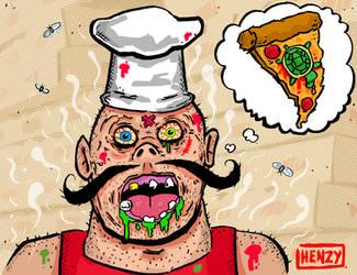 Pizza-face by Phenzyart