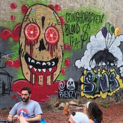 Blood Money spray paint by Phenzyart