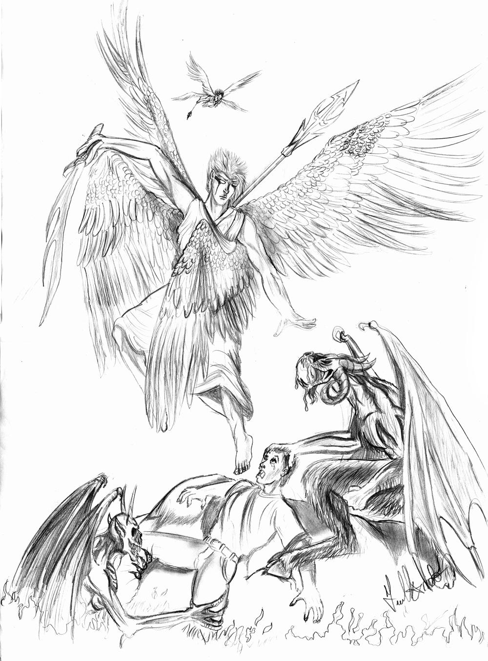 angel and demons drawings - photo #31