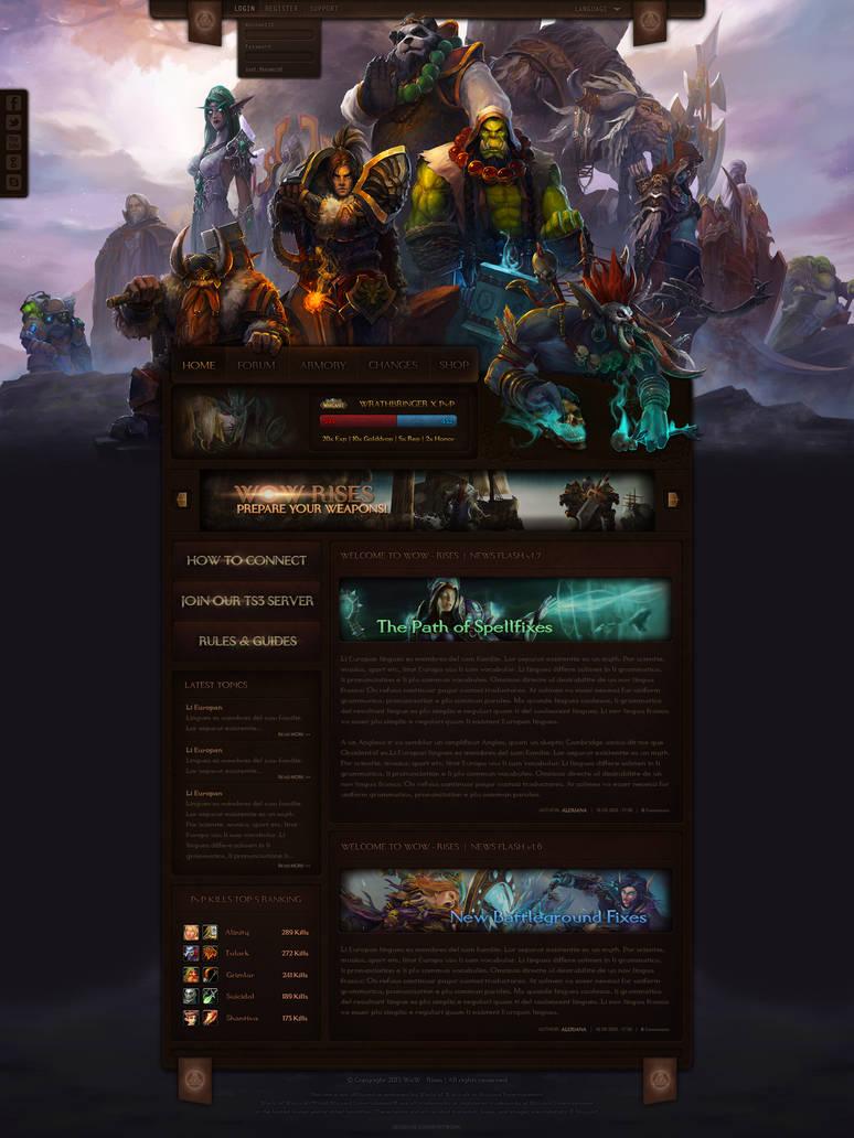 WoW Rises - A World of Warcraft Website Design