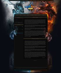 FusionCMS Template for a World of Warcraft Server