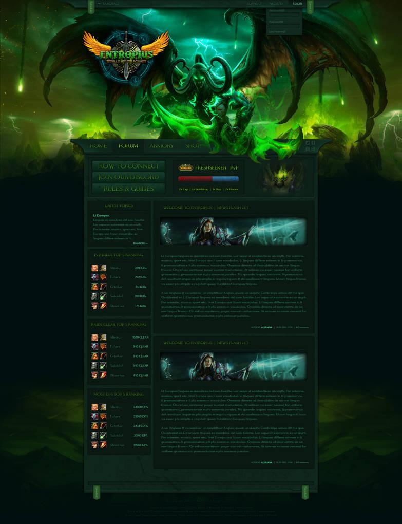 World of Warcraft - Legion Design - Entropius