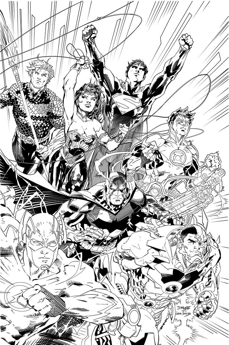 justice league coloring pages - justice league new dc inks by inhuman00 on deviantart