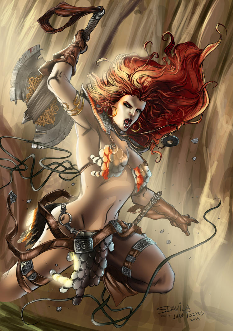 Red Sonja Attack by Inhuman00