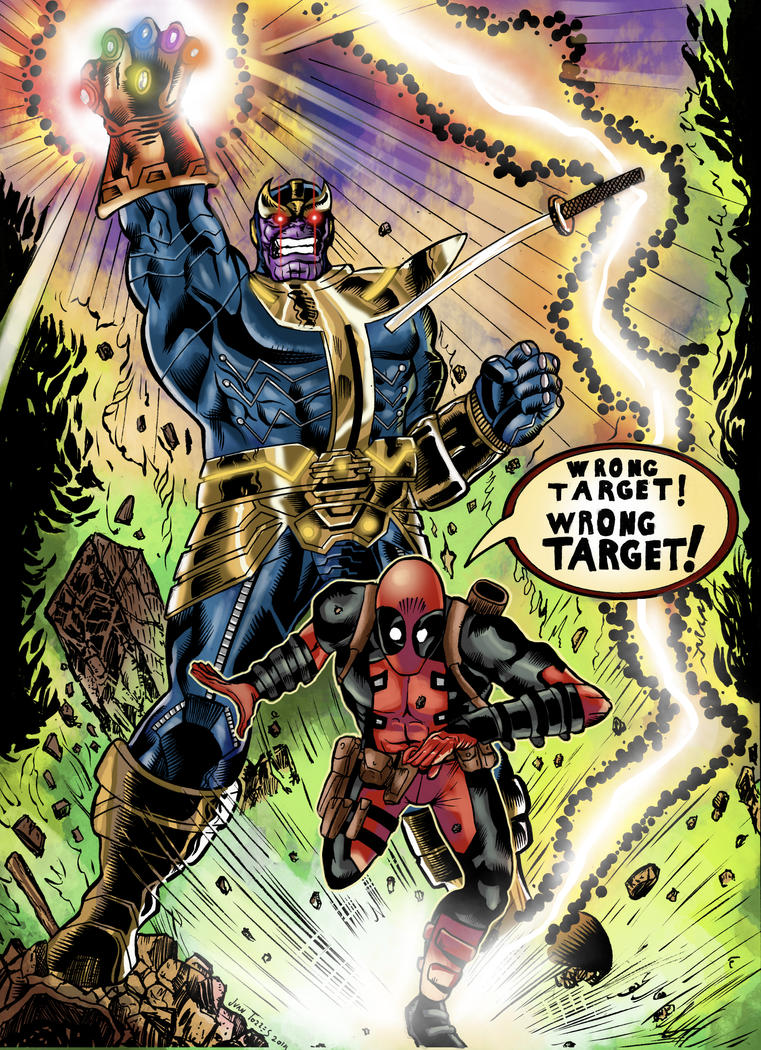 Thanos and Deadpool by Inhuman00