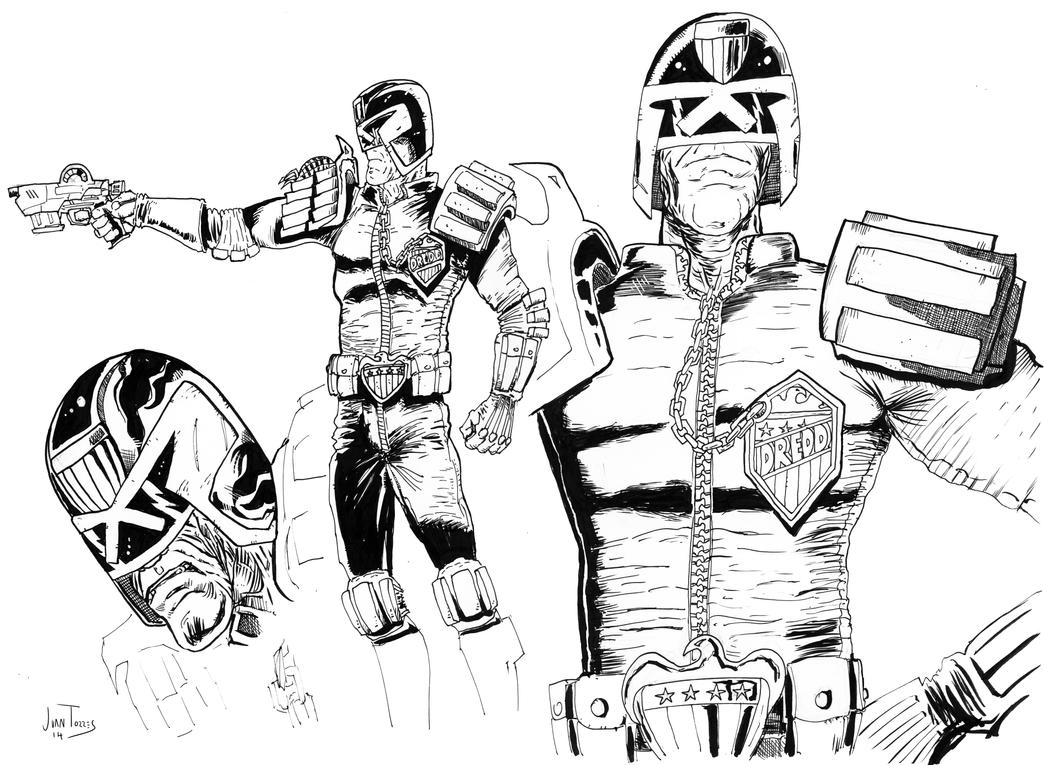 Dredd concept sketches by Inhuman00