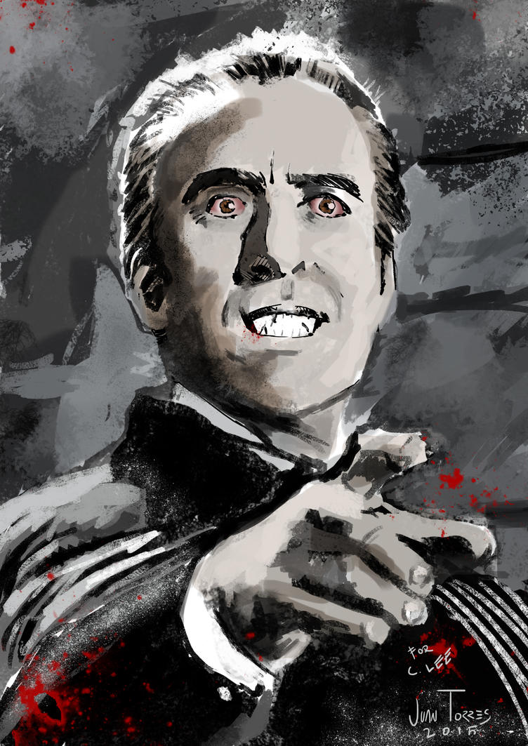 Christopher Lee Dracula by Inhuman00
