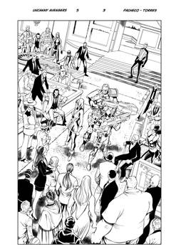 Uncanny Avengers 5  page3    inks