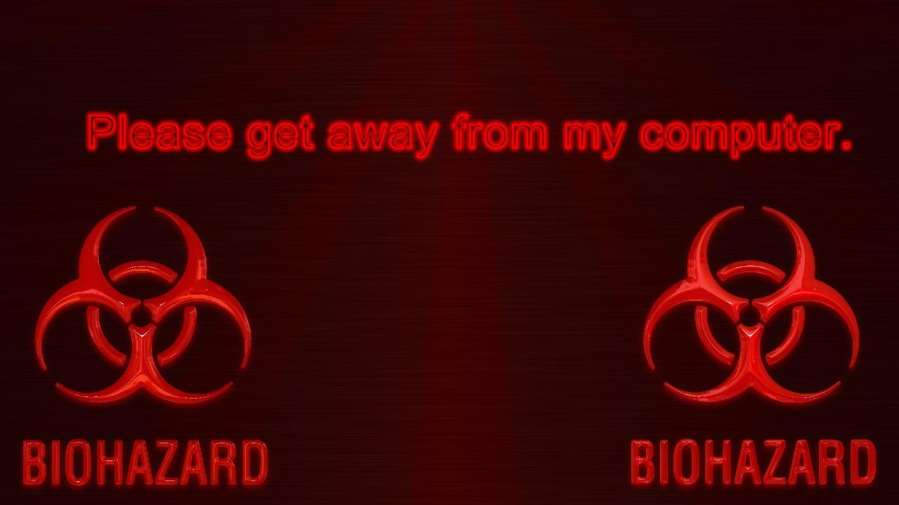 Bio Hazard Log On Screen by Solace-Grace