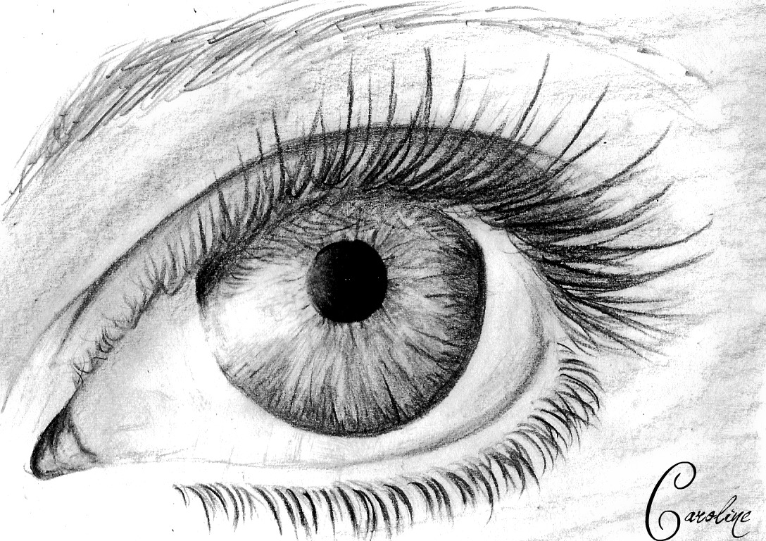 Line Drawing Eye : Eye by caroline o thecaroeline on deviantart