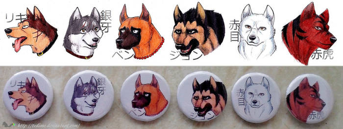 Ginga Nagareboshi Gin badges