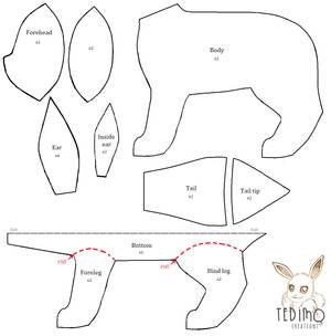 Free Eeveelution plush pattern