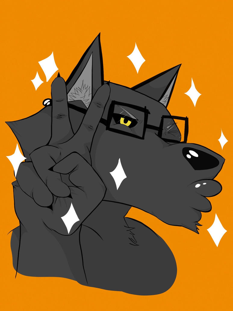 Hipster wuff (alt) by SoularWolf4