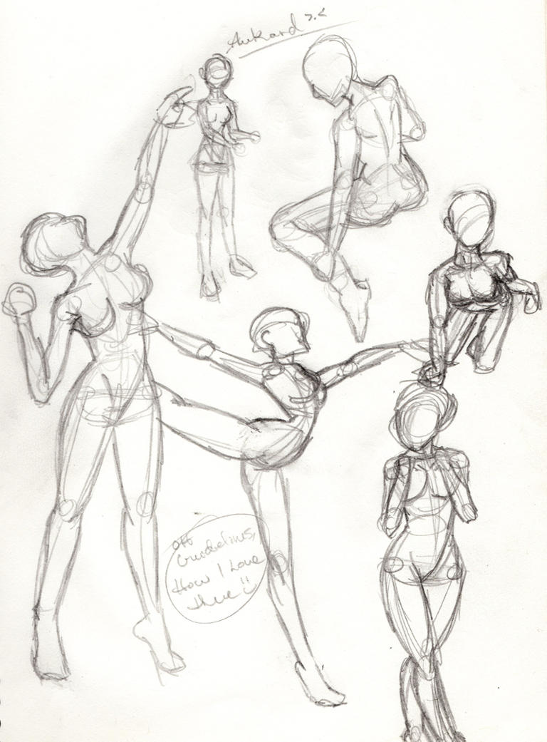 Random Female Anatomy Sketches by deliquescedesign on DeviantArt