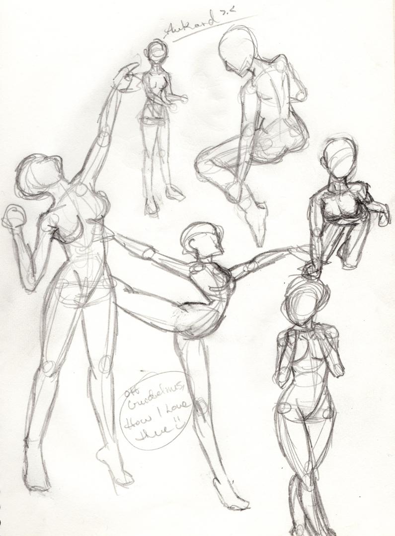Random Female Anatomy Sketches By Deliquescedesign On Deviantart