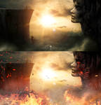 Photoshop Tutorial  Surreal- Stone face by 35-Elissandro