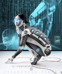 Cyborg Girl 5 by 35-Elissandro