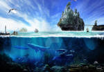 landscape. Scenery-Manipulation- Water Castle