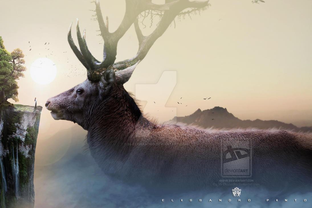 _ Great Moose _Deer_ by 35-Elissandro