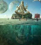 Photoshop  Manipulation  Underwater Shiva  Deus
