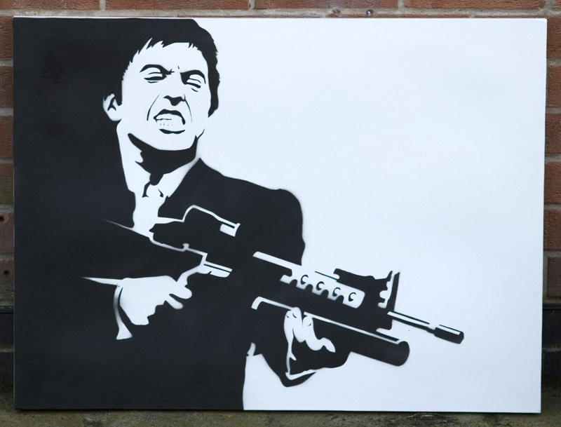 Scarface Stencil by tobyedwards