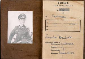 Soldbuch - Cover und Seite 1
