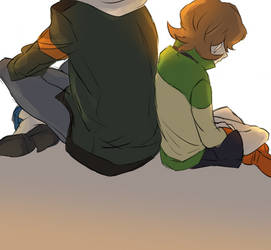 Voltron- Lance and Pidge by rainbox17