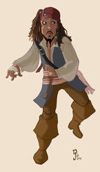 Capt'n Jack Sparrow by Gnomer