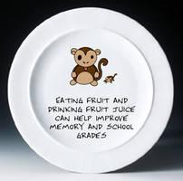 Plate Monkey: Eating Fruit... by Magic-Onigiri